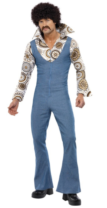 1970\'S GROOVY GUY DISCO DANCER JUMPSUIT - MEDIUM