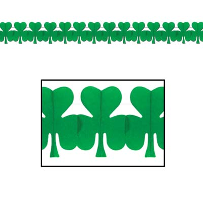Image of Shamrock Paper Garland