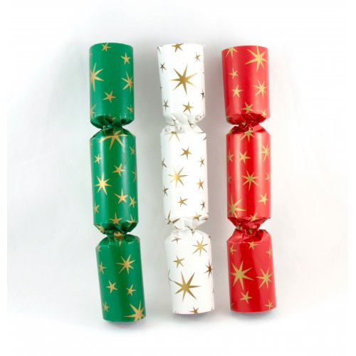 BON BONS - RED, GREEN & WHITE WITH GOLD STARS BULK PACK 100
