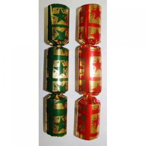 BON BONS - RED & GREEN WITH GOLD STARS PACK OF 10