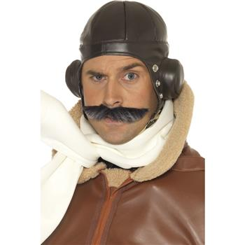 FLYING PILOTS HAT BROWN LEATHER LOOK