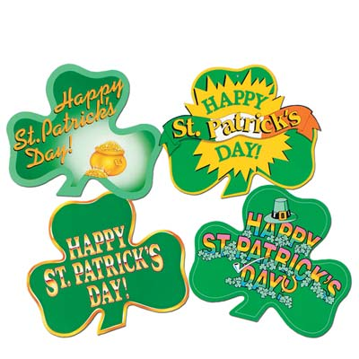 SHAMROCK CUT OUTS SET OF 4