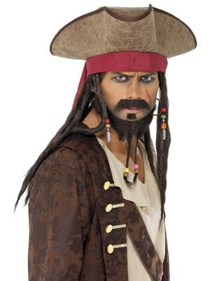 PIRATES OF THE CARIBBEAN DREADLOCKS & HAT - ADULT