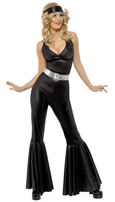 1970'S ABBA BLACK JUMPSUIT