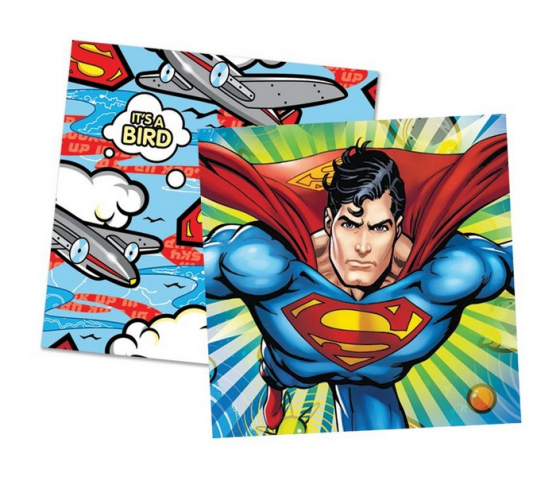 SUPERMAN NAPKINS - PACK OF 16