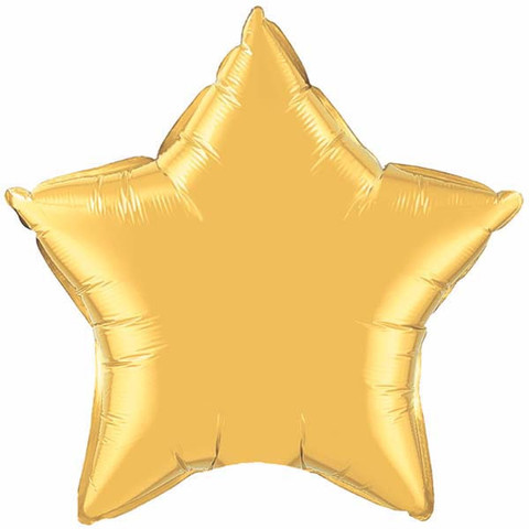 FOIL BALLOON STAR SHAPE - GOLD