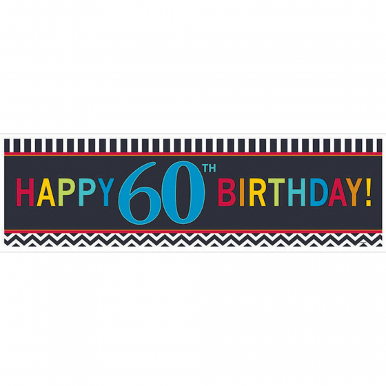 60TH BIRTHDAY BANNER - GIANT CELEBRATION
