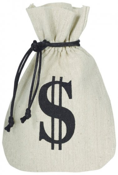 MONEY BAG SMALL WITH DRAWSTRING - FABRIC PACK OF 8
