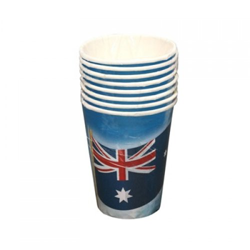 AUSTRALIAN PRINT CUPS PACK OF 8