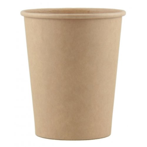 NATURAL ECO KRAFT PAPER CUPS 200ML - PACK 50