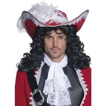 AUTHENTIC PIRATE HAT WITH WHITE FEATHER
