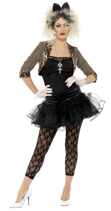 MATERIAL GIRL 80'S FANCY DRESS COSTUME - 2 SIZES