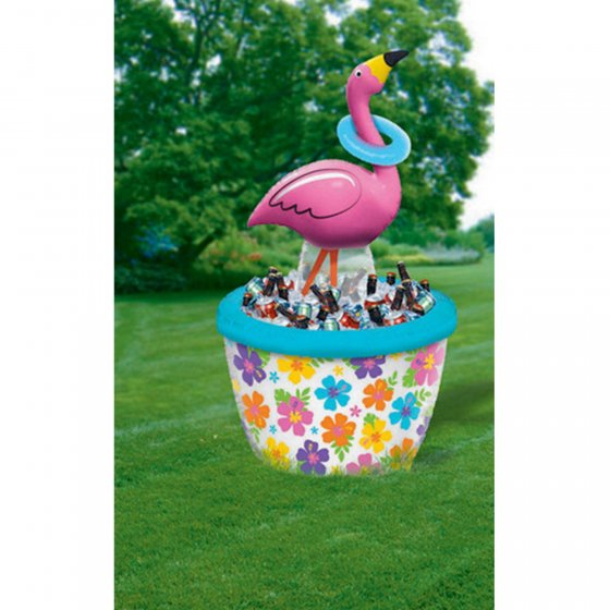 INFLATABLE FLAMINGO RING TOSS COOLER - LARGE