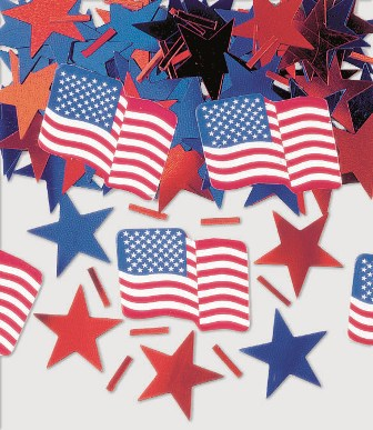 AMERICAN STARS & STRIPES PRINTED TABLE SCATTERS - VALUE PACK