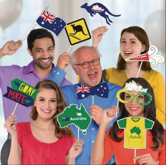 SELFIE PHOTO BOOTH PROPS - AUSTRALIAN PACK OF 13