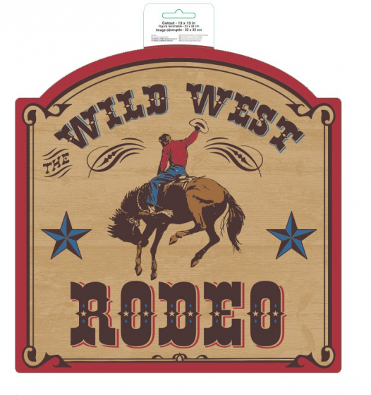 WILD WEST RODEO CUT OUT - 33CM