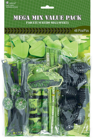 PARTY FAVOURS - CAMOUFLAGE VALUE 48 PC PACK