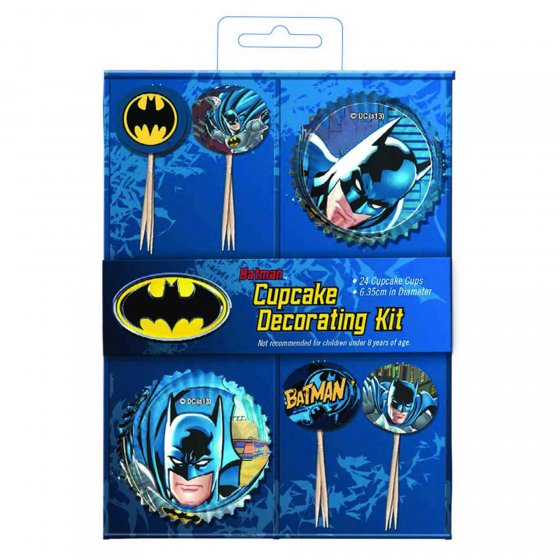 BATMAN CUPCAKE DECORATING KIT
