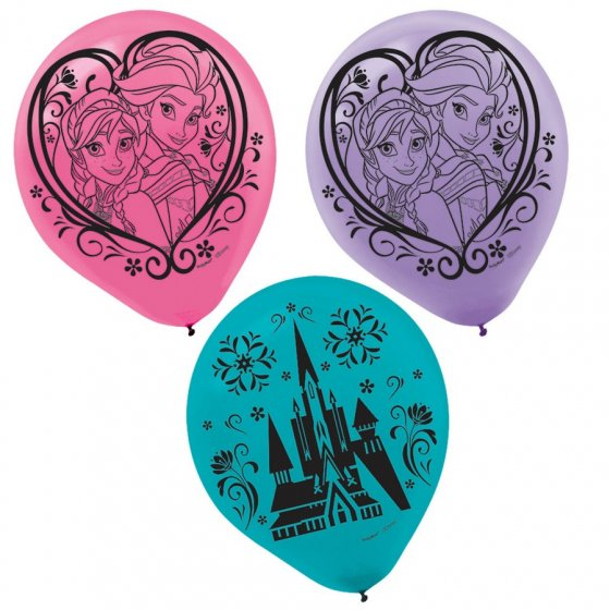 BALLOONS LATEX - DISNEY FROZEN PACK OF 24