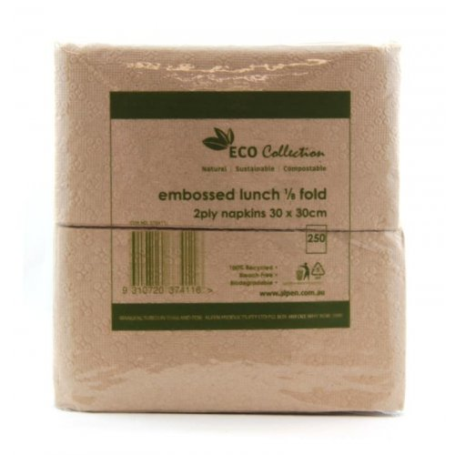 NATURAL KRAFT ECO GT FOLD LUNCHEON NAPKINS - PACK OF 250