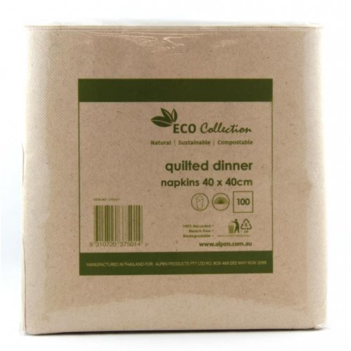 NATURAL KRAFT ECO DINNER NAPKINS - PACK OF 100