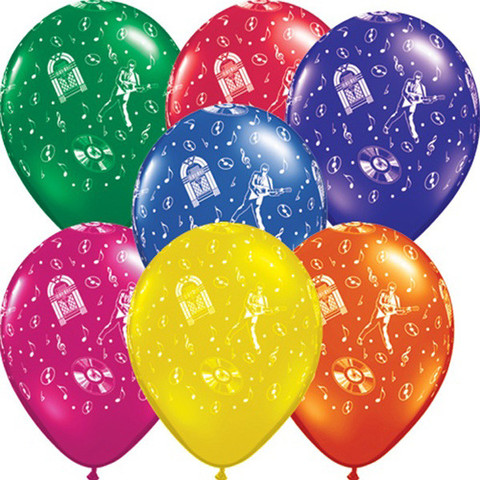 BALLOONS LATEX - ROCK N ROLL PACK OF 7