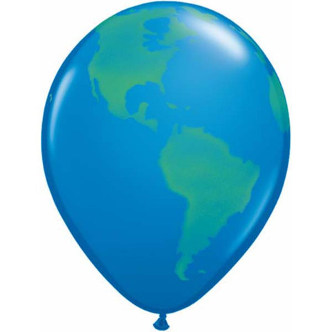 BALLOONS LATEX - GLOBE PACK OF 6