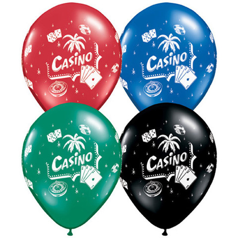 BALLOONS LATEX - CASINO PACK 6