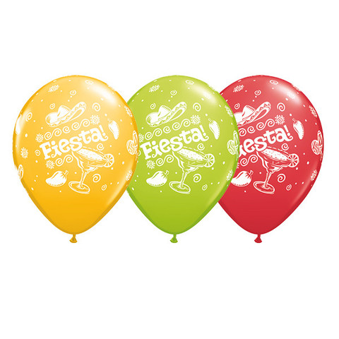 BALLOONS LATEX - FIESTA DESIGN PACK 6