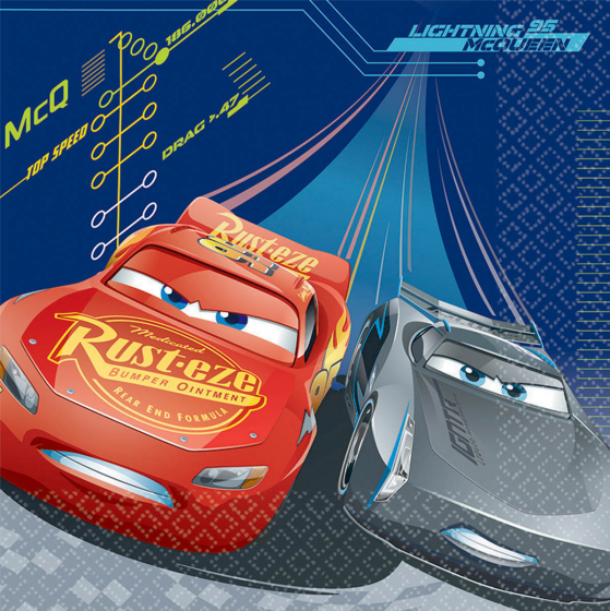 CARS 3 - LUNCH NAPKINS PACK OF 16