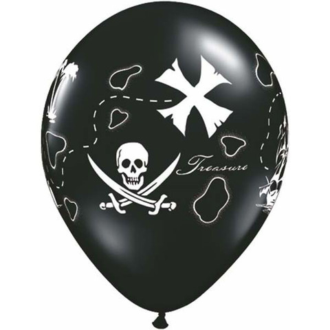 BALLOONS LATEX - PIRATE TREASURE PACK 6