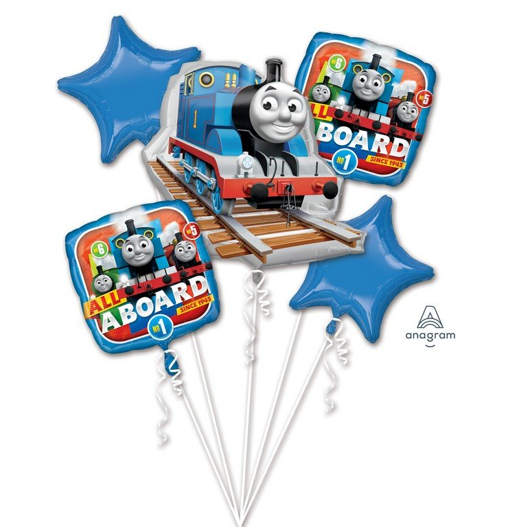 FOIL BALLOON - THOMAS THE TANK ENGINE BOUQUET OF 5
