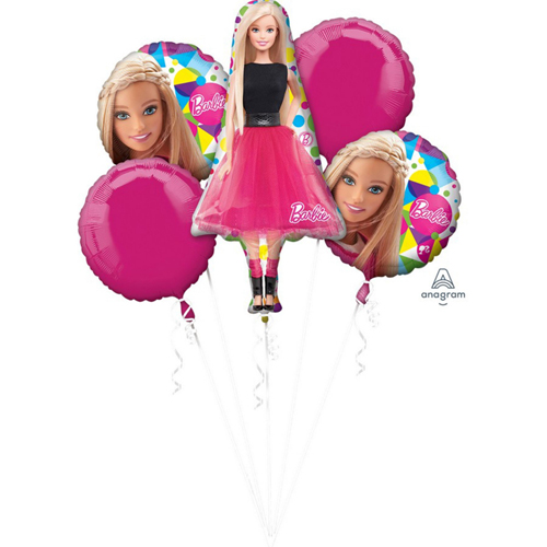 FOIL BALLOON BOUQUET - BARBIE SPARKLE - PACK OF 5