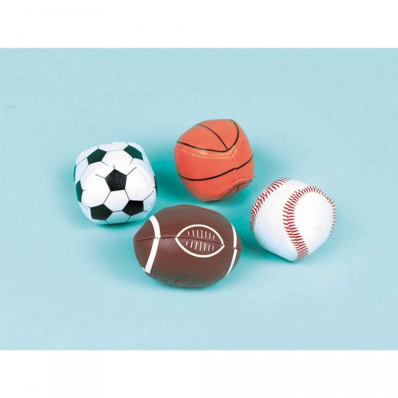 PARTY FAVOURS - SOFT SPORT BALLS - PACK OF 12