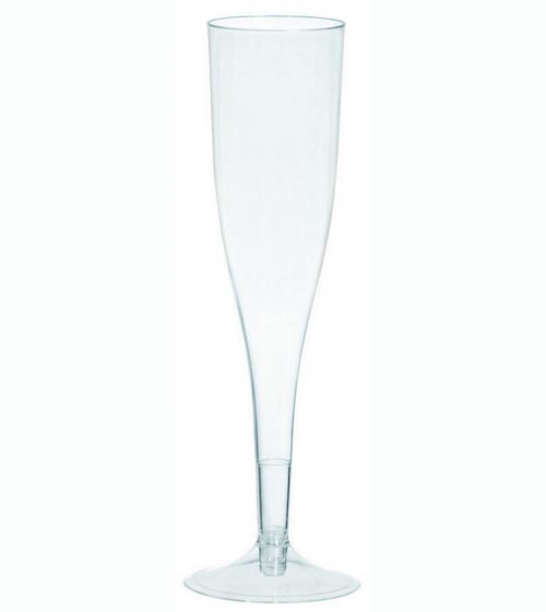 CHAMPAGNE FLUTES CLEAR - BULK PACK 20