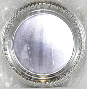 SILVER SERVICE PLATES - ENTREE / SIDE ROUND PK 8