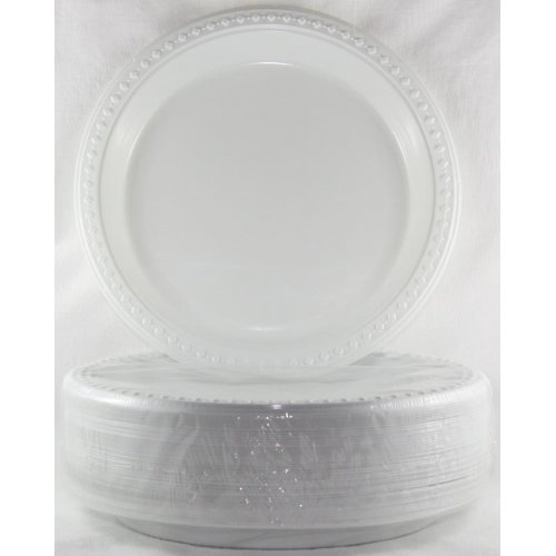 DISPOSABLE DINNER PLATE - WHITE BULK PACK OF 50