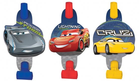CARS 3 - PARTY BLOWOUTS PACK OF 8