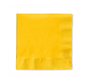 NAPKINS - YELLOW COCKTAIL PK 50