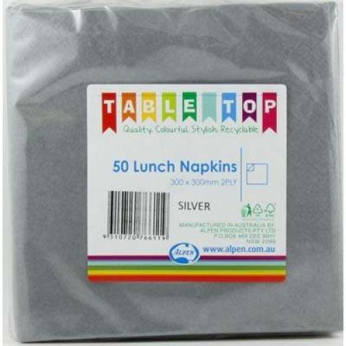 NAPKINS - SILVER LUNCH PACK 50