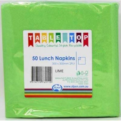 NAPKINS - LIME LUNCH PK 50