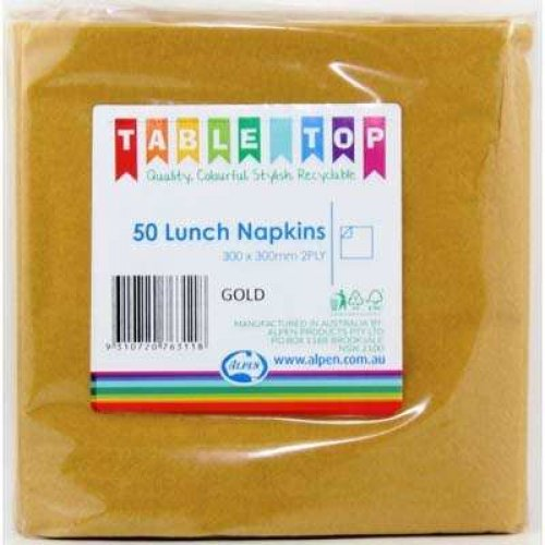 NAPKINS - GOLD LUNCH PK 50