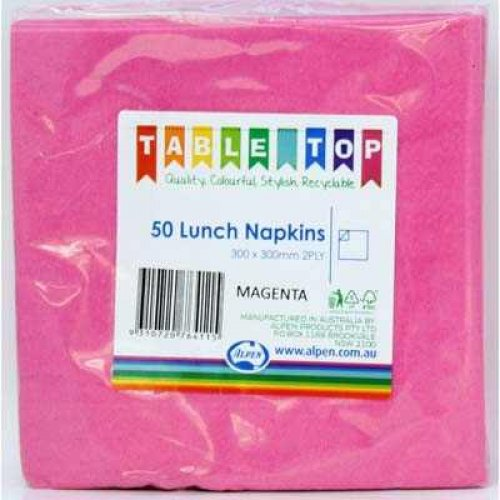 NAPKINS - MAGENTA LUNCH PK OF 50