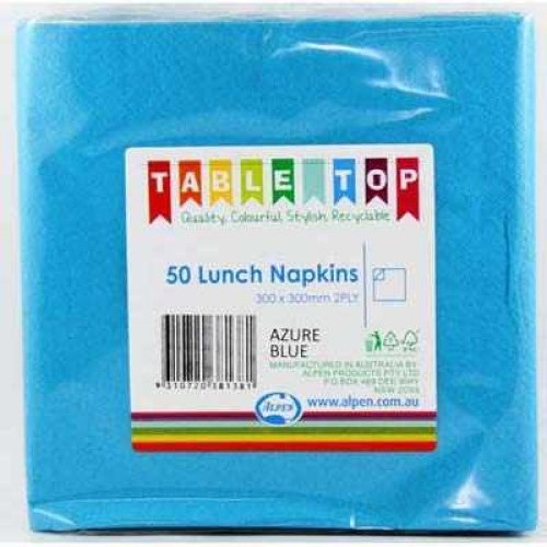 NAPKINS - AZURE BLUE LUNCH PK 50
