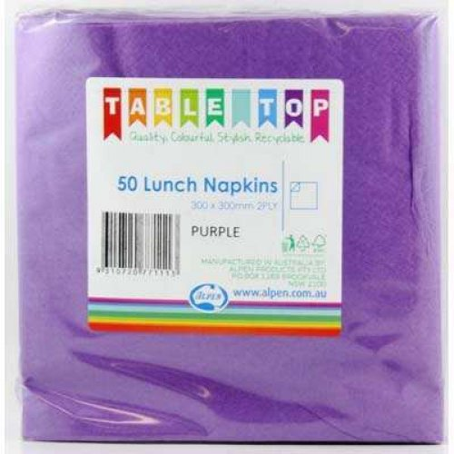 NAPKINS - PURPLE LUNCH PK 50
