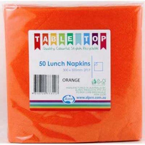 NAPKINS - ORANGE LUNCH PK 50
