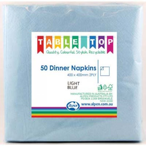 NAPKINS - PALE BLUE DINNER PACK 50