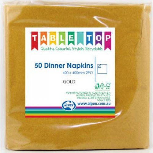 NAPKINS - GOLD DINNER PK 50