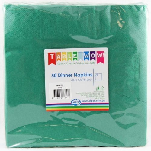 NAPKINS - GREEN DINNER PACK 50