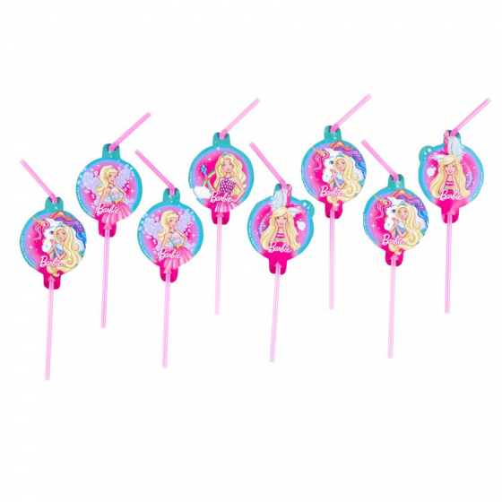BARBIE DREAMTOPIA STRAWS - PACK OF 8